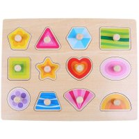 Montessori Toy Colorful Wooden Baby Kids Animals Numbers Cognitive Puzzle Board Toy Clutch Plate Baby Grasping Educational Toys